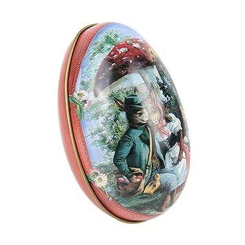 moresave 5pcs Huevo de Pascua pintado eggshel cajas de lata pastillas funda de regalo de boda joyas caja con forma de hierro: Amazon.es: Hogar
