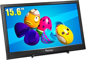 Prechen Portable Monitor 15.6 Inch Monitor Portable HDMI 1080P IPS Panel Portable Display USB Powered,Compatible for Raspberry Pi/PS3/PS4/xbox360/Laptop,Built-in Speaker
