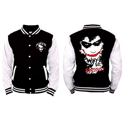 ceafd072 Amazon.com: batman Joker - Why So Serious? College Jacket Black ...