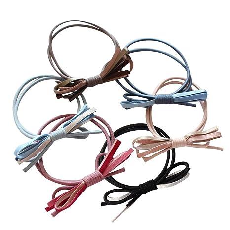 ShungFun - Sujetador de pelo de piel de ante para el pelo, elástico, para