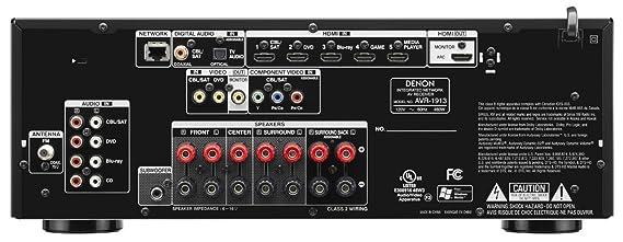 amazon com denon avr 1913 7 1 channel 3d pass through and rh amazon com Denon AVR 1913 Receiver denon avr-1913 owners manual pdf