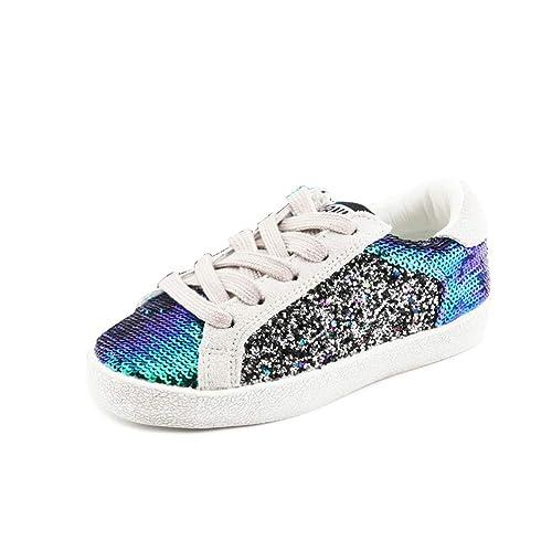 0ddc6ad15 Zapatos Casuales para niños Lentejuelas con Cordones Zapatillas de Deporte  para niños Zapatos cómodos para Caminar  Amazon.es  Zapatos y complementos