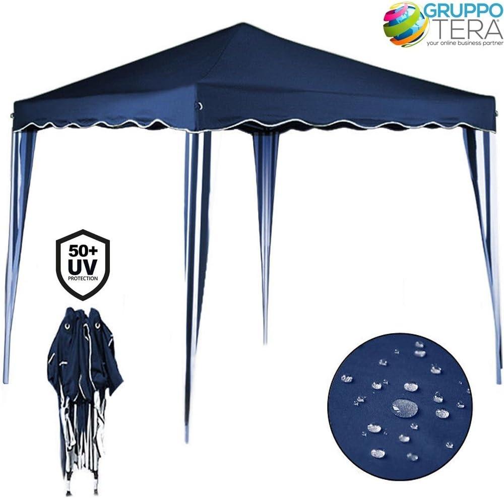 Bakaji - Cenador de 3 x 3 m, plegable, impermeable, plegable, 3 x ...