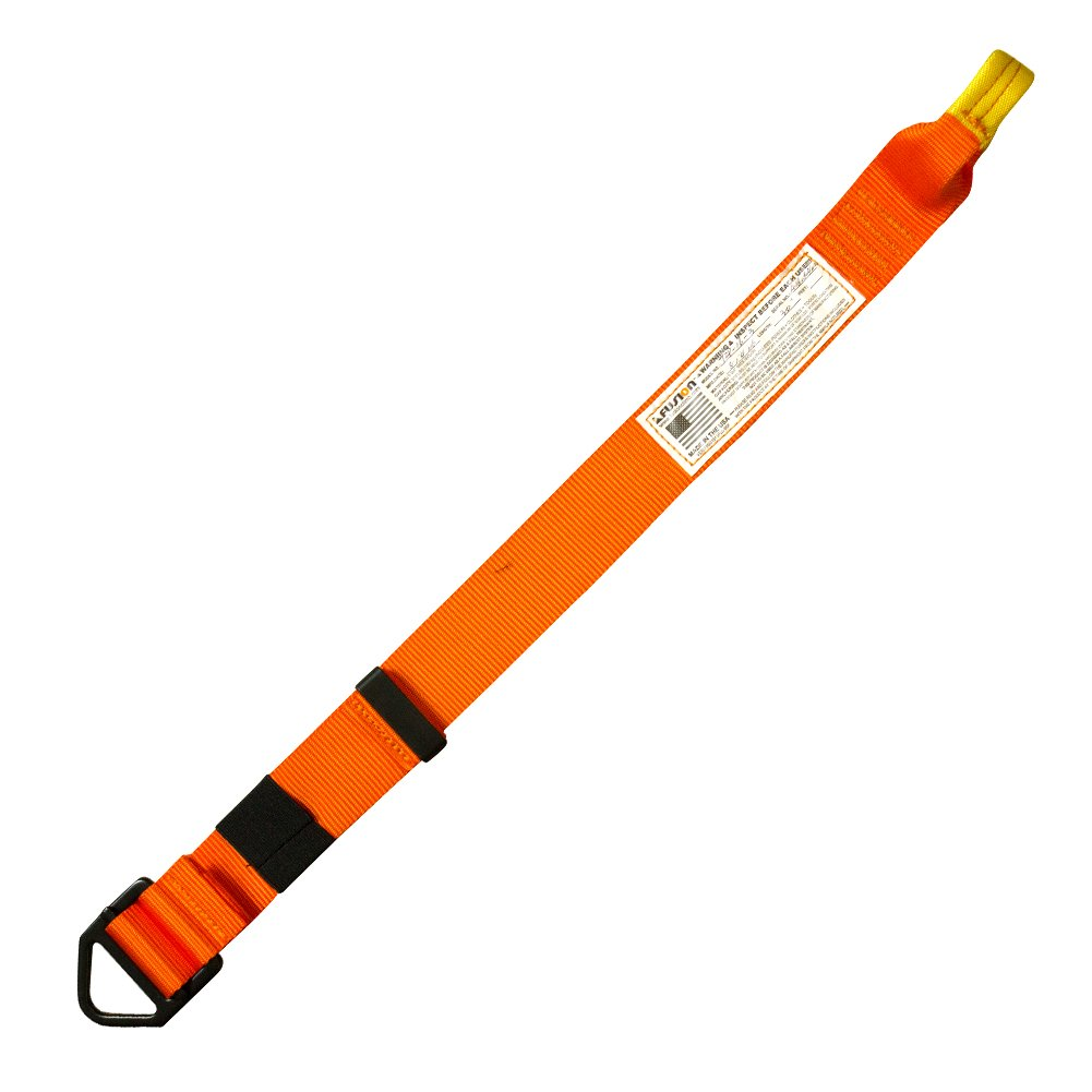 Fusion Adjustable Lanyard with D-Ring, Orange by Fusion (Image #3)