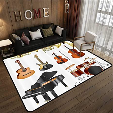 Amazon.com: Silky Smooth Bedroom Mats,Music Decor ...