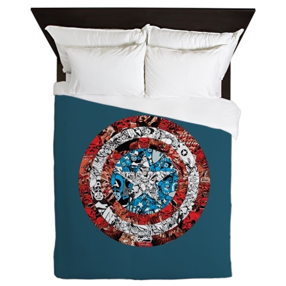CafePress Shield Collage Queen Duvet Cover, Printed Comforter Cover, Unique Bedding, Microfiber