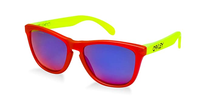 19e79f35d4f86 Oakley FROGSKINS Pink Yellow - +Red Iridium Polarized lens 24-353 Size   Amazon.co.uk  Clothing