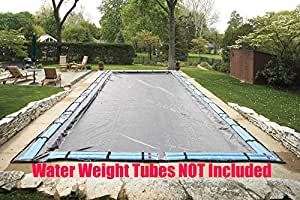 24' x 40' Rectangle Tight Mesh In-Ground Pool Winter Cover Debris Trap Cover Arctic Armor Platinum 5 Foot Overlap 8 Year Warranty