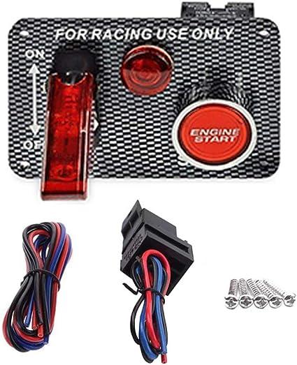 LED rojo Interruptor de interruptor de encendido//apagado para automoci/ón iluminado 12 V//20 A