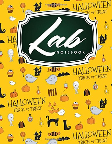 (Lab Notebook: Kids Lab Notebook, Lab Notebooks With Grid Pages, Lab Notebook Graph Paper, Student Lab Notebook Chemistry, Cute Halloween Cover (Volume)