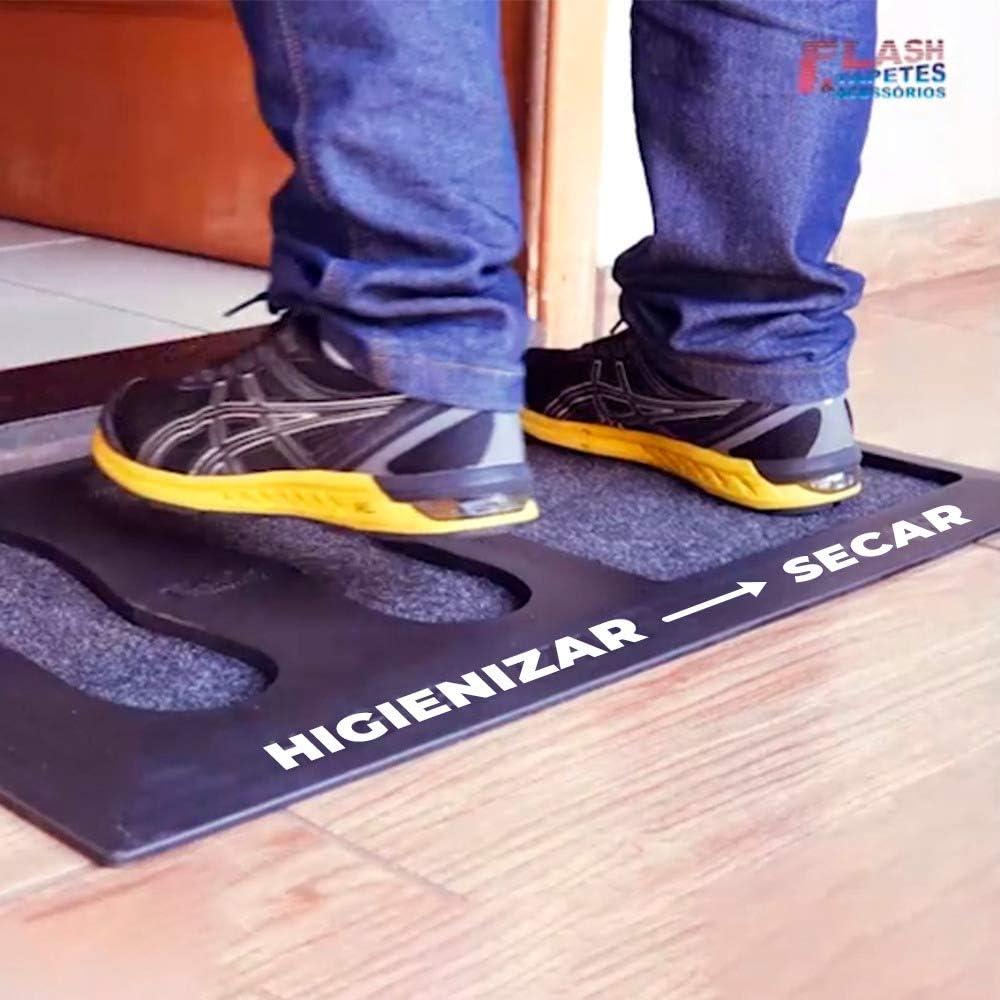 Tapete Capacho Sanitizante Higienizador Calçados : Anti Vírus e Anti Bactérias - 75cm x 47cm…