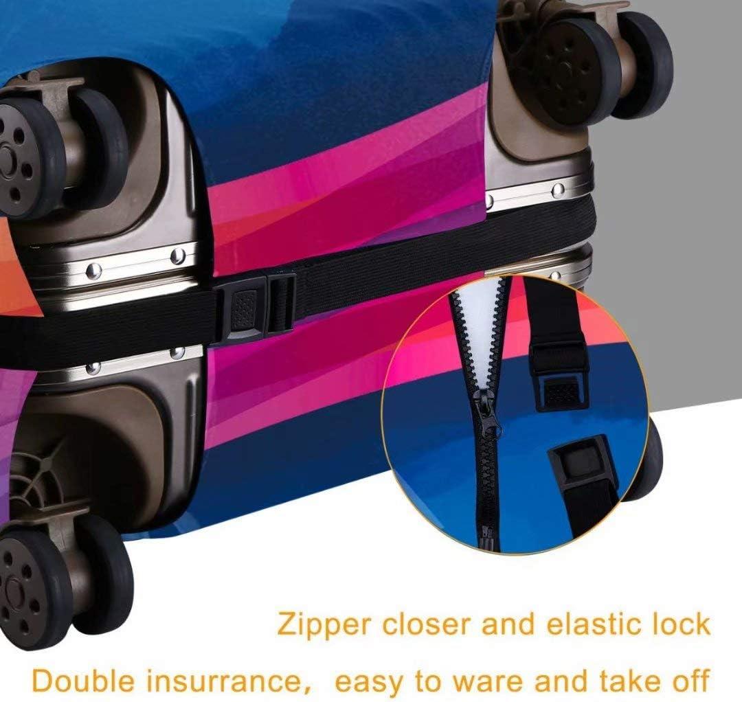 Washable Travel Luggage Cover Fashion Funny Corgi Suitcase Protector Fits 29-32 Inch