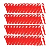 100Pcs Red Plastic Blades For Grass Trimmer Strimmer Lawnmower - Power Tool Parts Other Accessories - 100 x Heat Shrink Connectors