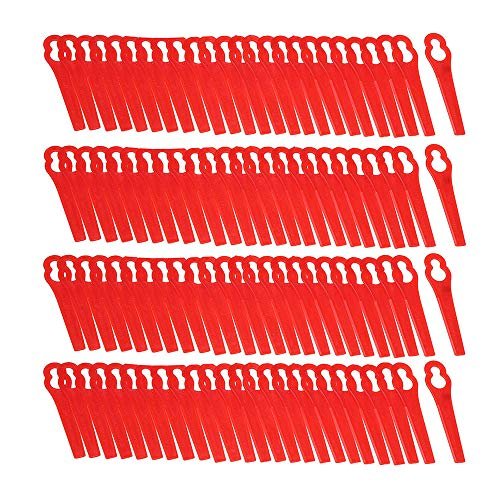 100Pcs Red Plastic Blades For Grass Trimmer Strimmer Lawnmower - Power Tool Parts Other Accessories - 100 x Heat Shrink Connectors by Unknown