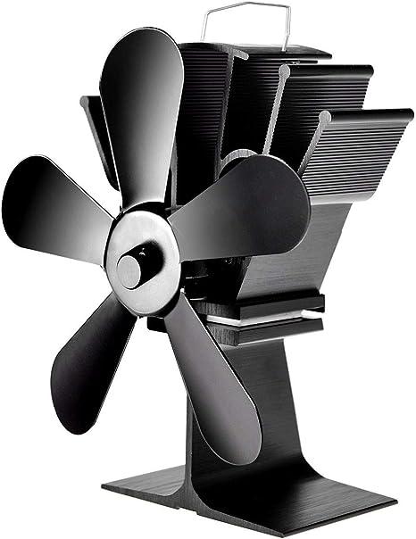 "6.8/"" 5 Blades Heat Self-Powered Stove Fan Wall Mounted Magnetic Fireplace Ecofan"