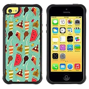 iKiki Tech / Estuche rígido - Wallpaper Art Drink Watermelon Food Ice Cream - Apple iPhone 5C