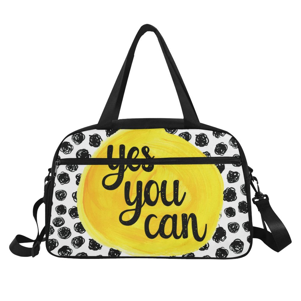 ... Amazon.com InterestPrint Inspirational Quotes Polka Dot Duffel Bag  Travel Tote Bag Handbag Luggage Travel ... 020ba3c8ae2