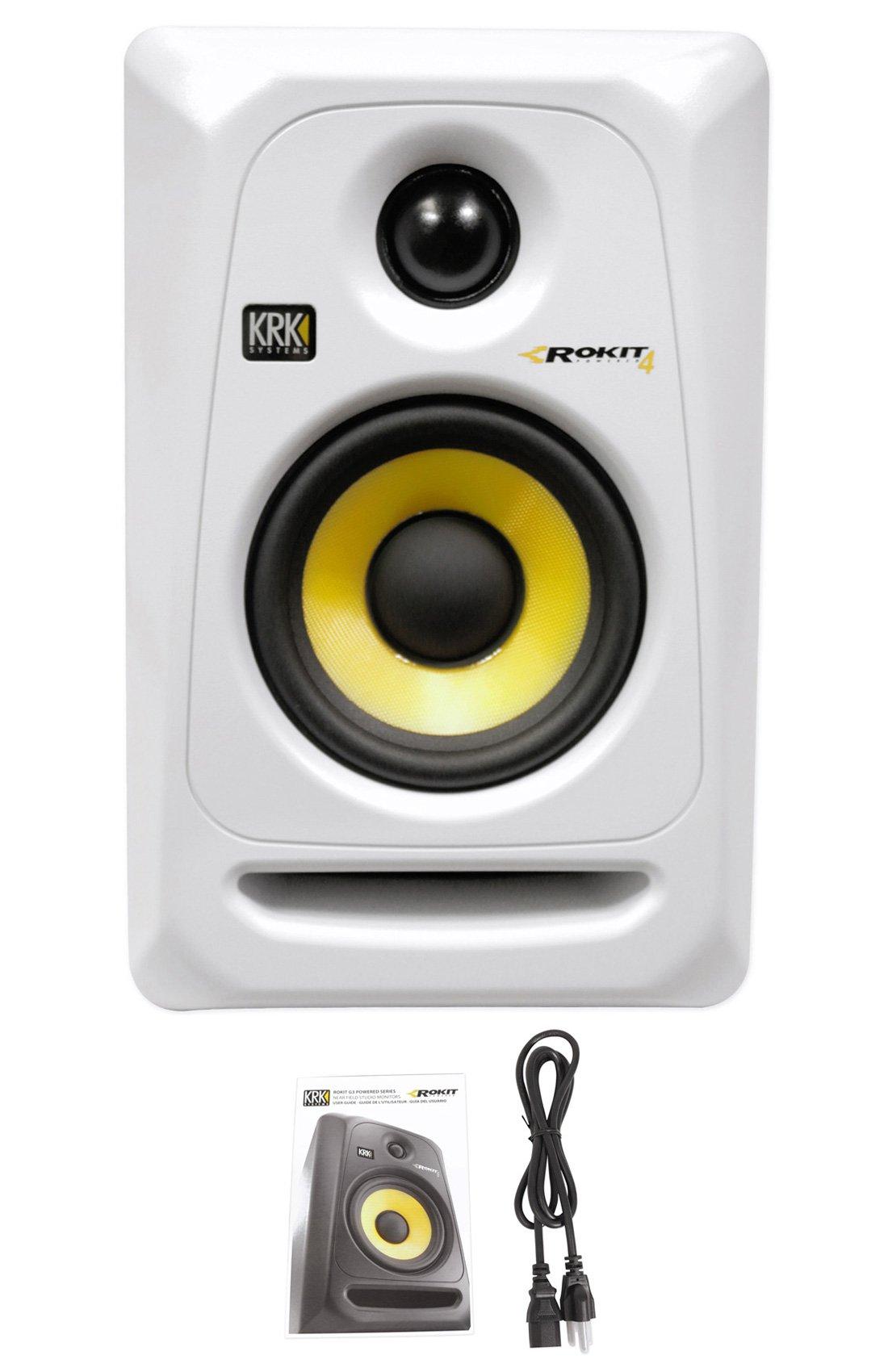 KRK  RP4G3 4'' High Performance Studio Monitor (White)