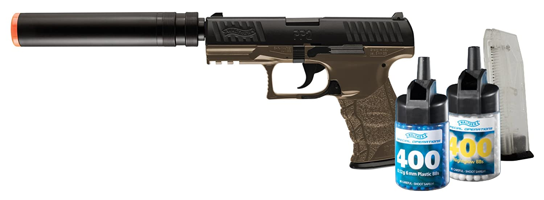 amazon com stinger p9t airsoft pistol kit air soft camo