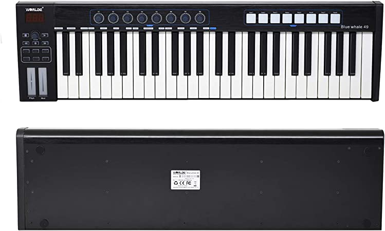 Bedler Controlador MIDI Blue whale 49 Teclado controlador USB ...