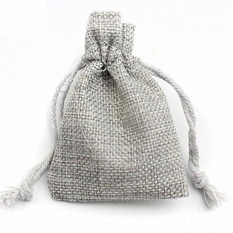 Bolsas de boda de arpillera sintética, 5 unidades de mini ...