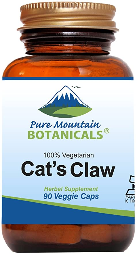 Cat's Claw Capsules - 90 Kosher Vegan Caps with 1000mg Peruvian Cats Claw Uncaria Tomentosa Herb