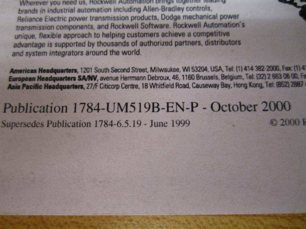 Allen Bradley 957345-81 1784-PCMK/B User Manual 95734581: Amazon com
