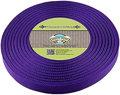 Country Brook Design 1-Inch Polypropylene Webbing, 100-Yard, Purple
