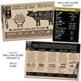 Flavor Brigade Gourmet Grilling Spices Gift Set for Guys, Dad, Men, BBQ Grill Accesories, Smoker, Seasonings, Rub, Steak, Burgers, Chicken, Fish & Stainless Tongs