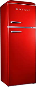 Galanz - Retro Look Refrigerator, 12.0 Cu Ft Refrigerator Top Mounted, Frost Free(RETRO), E-STAR Red