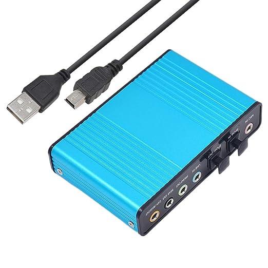 SUPVOX Tarjeta de sonido USB Tarjeta de sonido de fibra ...
