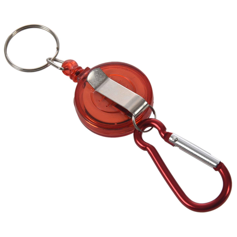 Moligh doll 2 Mulinello Badge Pc 2 Pezzi Rosso Quantit/à Retrattile Ribalta Yoyo Ski Pass Id Carta Portachiavi Catena Chiave Colore