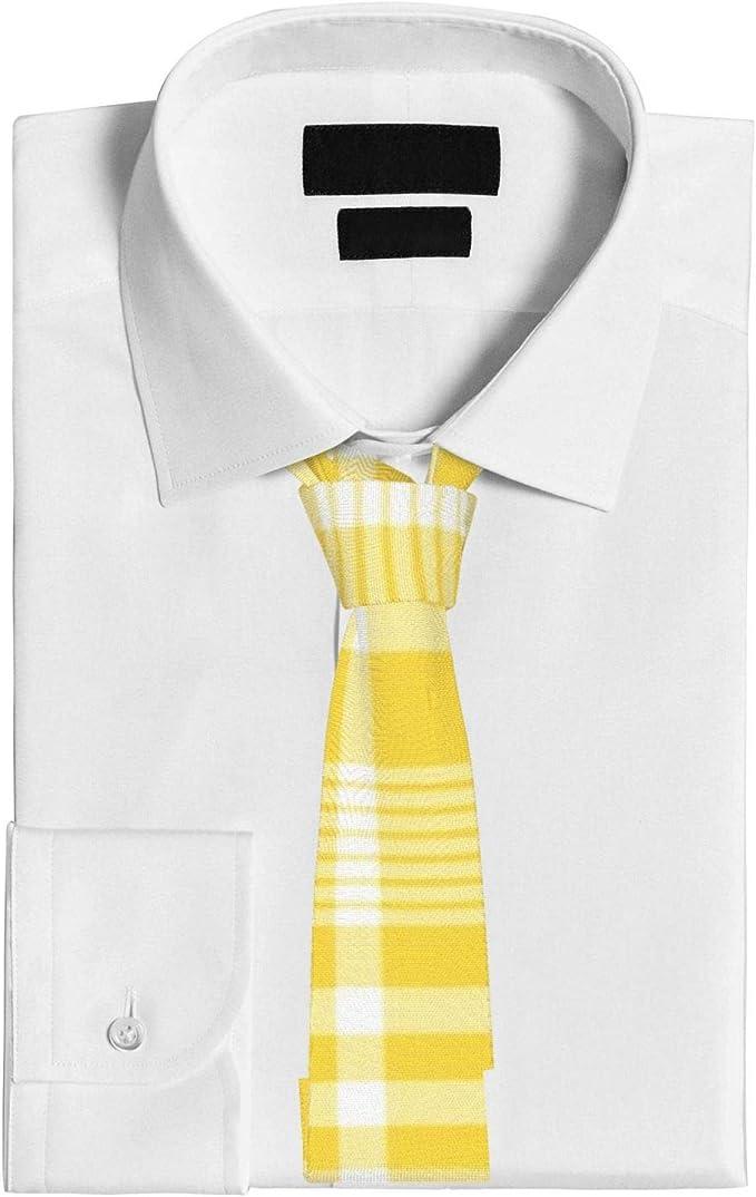 Corbata amarilla, patrón de cuadros amarillos corbata corbata ...