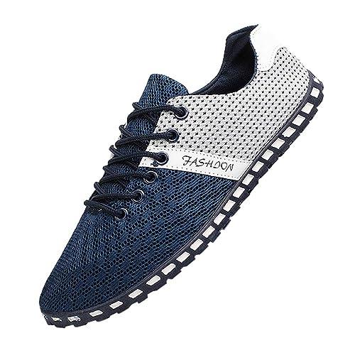Hombre Zapatillas Para Yaancunn Deporte Zapatos Correr Running 2WD9EHIY