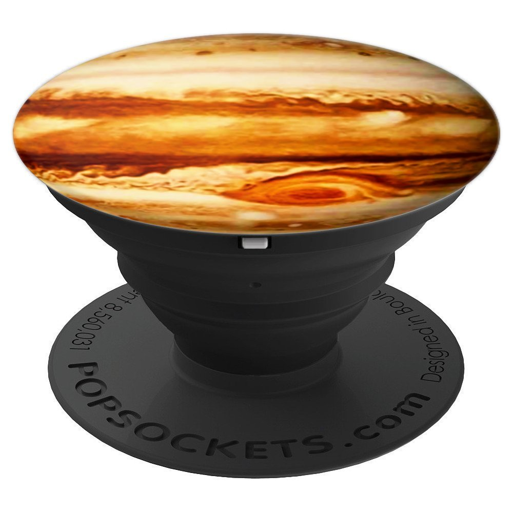 Planet Jupiter - Gas Giant Texture Design - PopSockets Grip and Stand for Phones and Tablets