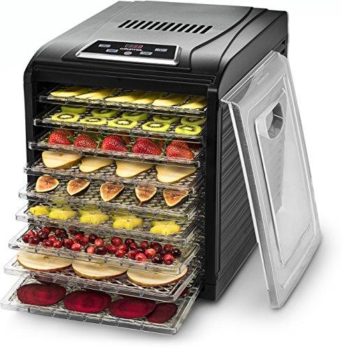 Gourmia Premium Countertop Food Dehydrator Digital Thermostat Preset Temperature Settings Airflow Circulation Countdown Timer Free Recipe Book Included 110V 9 Tray