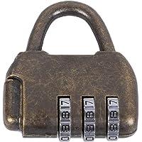 Junlian Aleación Zine Contraseña Cerraduras Vintage Antiguo Chino Estilo antiguo Caja de cofre de joyería Código…