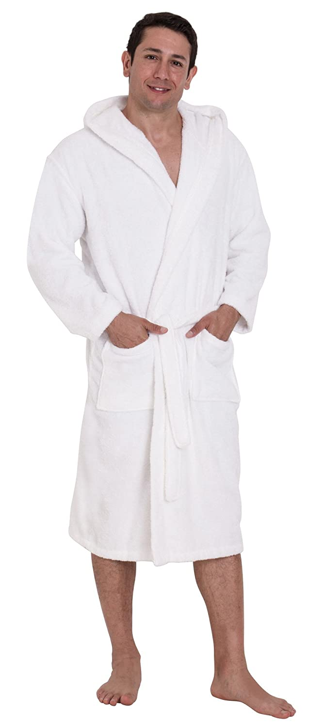 John Christian Luxury Collection - White Terry Towelling Hooded Bathrobe