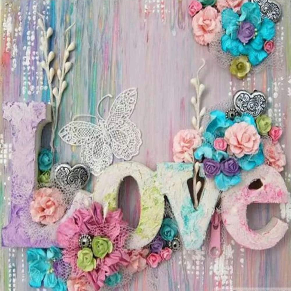 Fundaful 5D Kits de pintura de diamante.Flores de amor