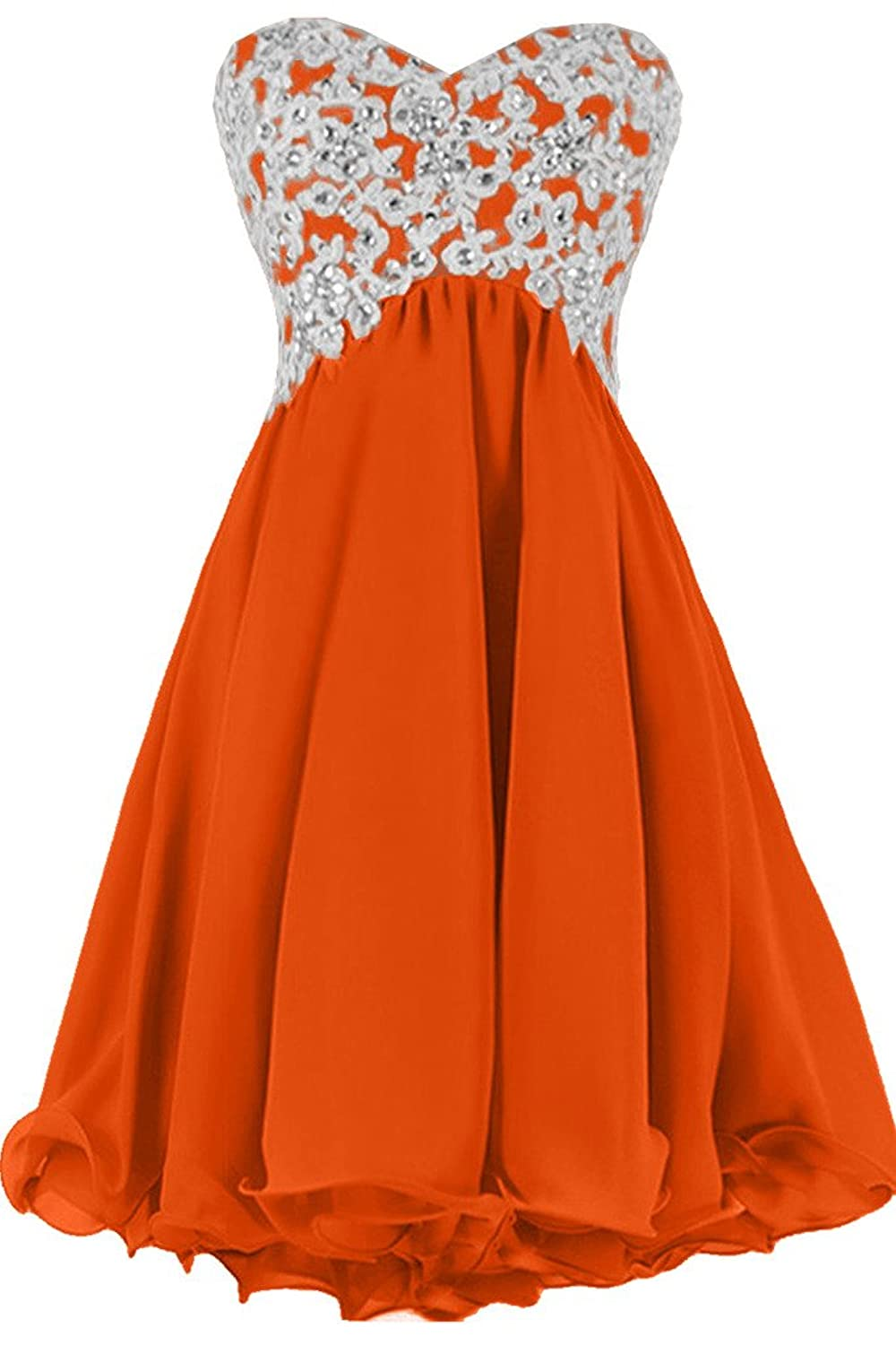 Sunvary A-Line Sweetheart Lace Appliques Chiffon Party Dresses Homecoming Gowns