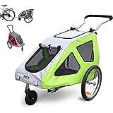 Vidaxl rimorchio bici carrello trasporto cani animali per - Carrello per bici porta cani ...