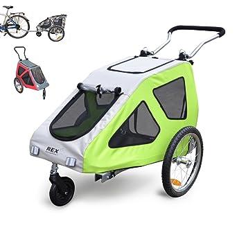 PAPILIOSHOP REX Remolque y carrito cochecito para el transporte de perro perros mascota por bici bicicleta