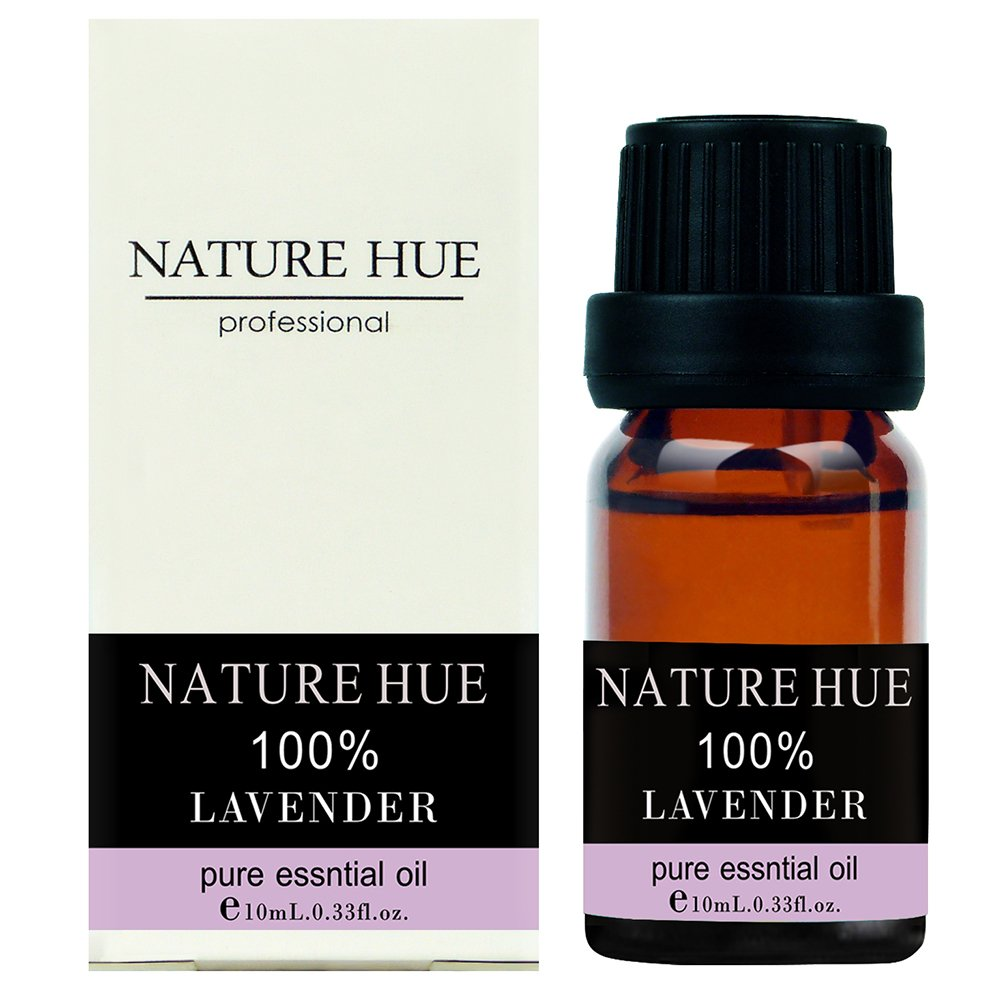 Nature Hue - Lavender Essential Oil 10 ml, 100% Pure Therapeutic Grade, Undiluted