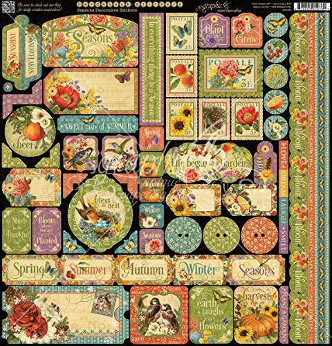 Graphic 45 Seasons Cardstock Stickers 12