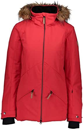 Obermeyer Siren Insulated Ski Jacket with Faux Fur Womens