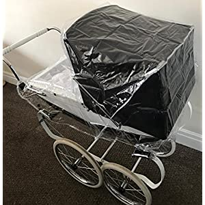 RAINCOVER TO FIT THE SILVERCROSS OBERON TOY/DOLLS PRAM ALSO COMPATIBLE WITH DAISY, CHATSWORTH, COTTINGLEY DOLLS PRAM…