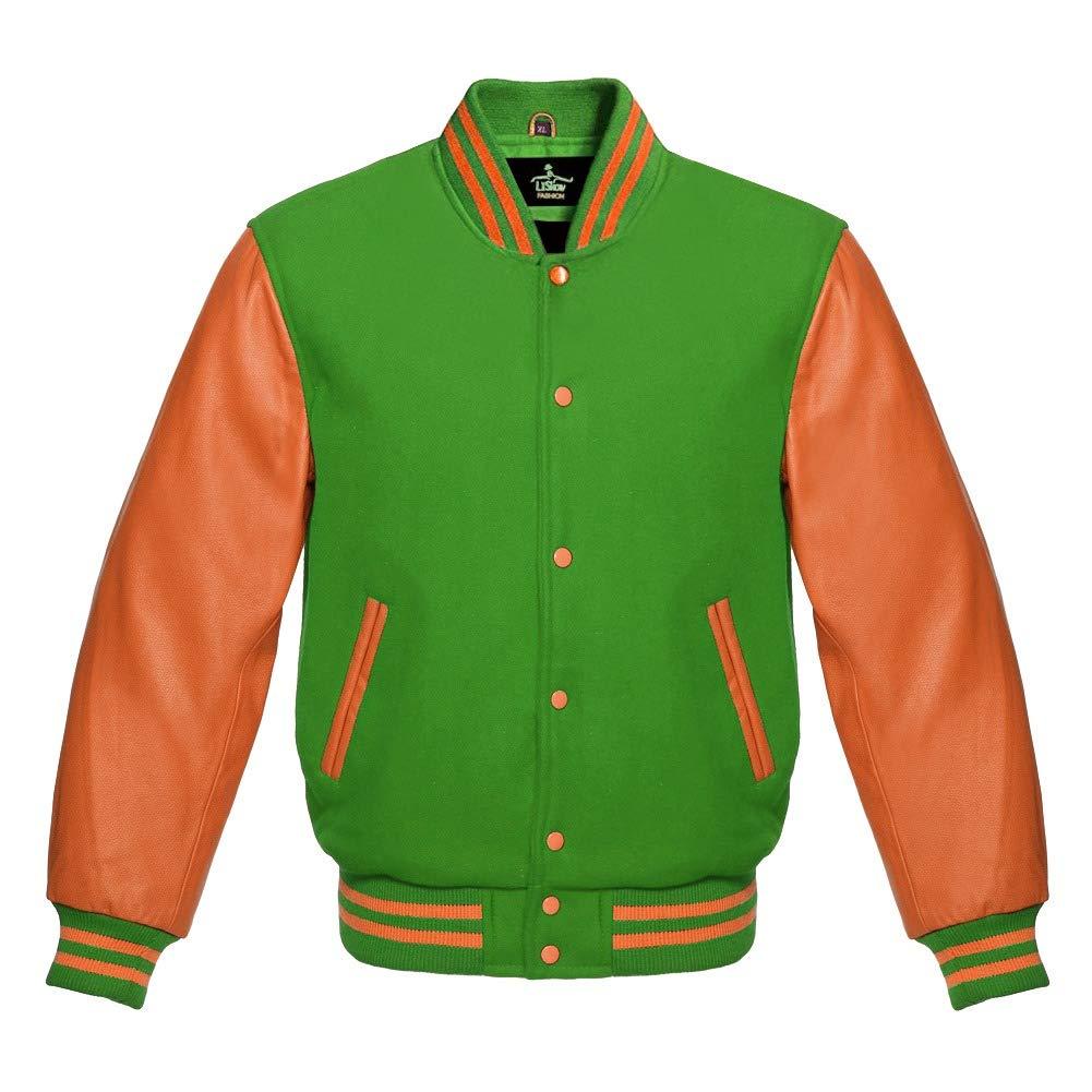 Amazon.com: Baseball Letterman Varsity - Chaqueta de lana ...