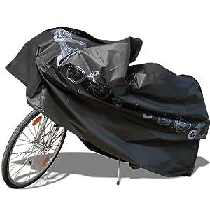 Housse pour Vélo Nakeey Housse Vélo Housse de Protection Vélo Imperméable Couverture de Vélo/Bicyclette/Bike/Moto Pluie de Poussiere de Neige (Longueur 210cm) Noir