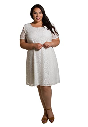 Sealed with a Kiss Designs Plus Size Dress - Kaye Lace Dress 2X White