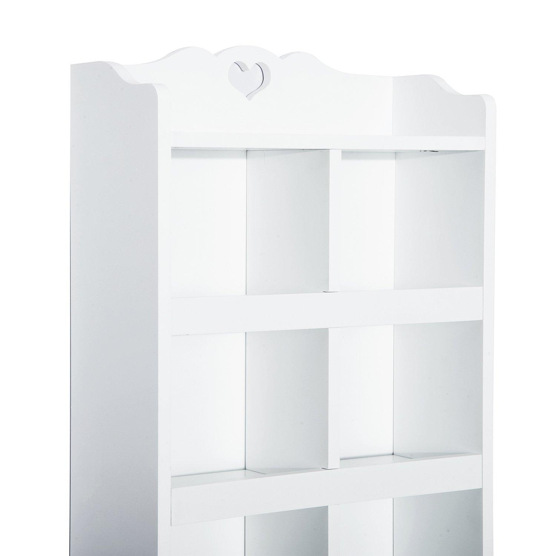 Homcom® Hängeschrank Wandschrank Regal mit Haken Schublade ...